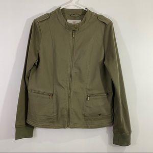 Guess Women Light Jacket Military Green Sz M